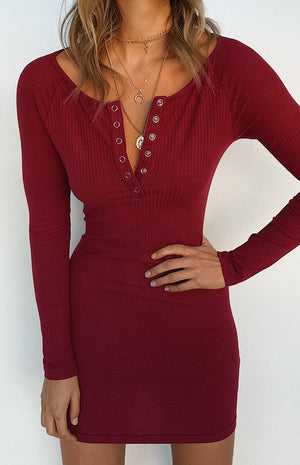 Autumn Skies Dress Wine