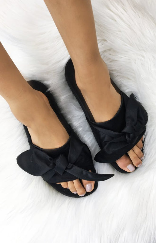 Tony Bianco Verona Slides Black Luxe