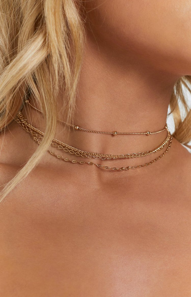 8 Other Reasons Cassie Necklace Set Gold