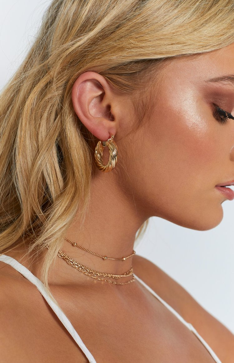 8 Other Reasons Drip Twist Earrings Gold