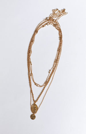 8 Other Reasons Hail Mary Necklace Gold