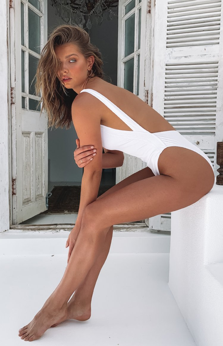 9.0 Swim Du Sol Bodysuit White Rib