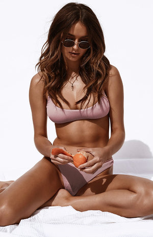 9.0 Swim Tahiti Bikini Top Dusty Pink Ribbed
