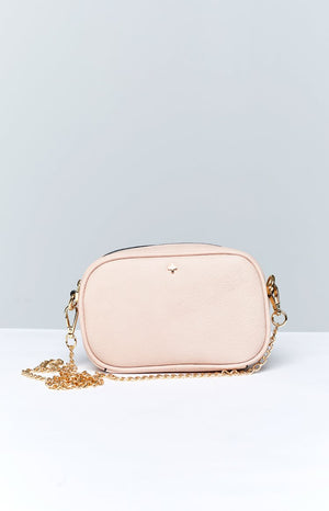 Peta & Jain Riri Chain Cross Over Bag Pastel Pink