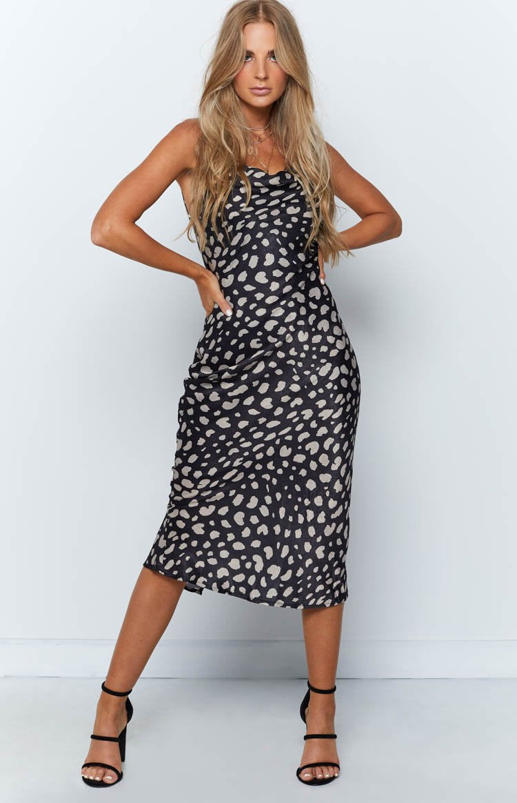 Adana Dress Black Leopard