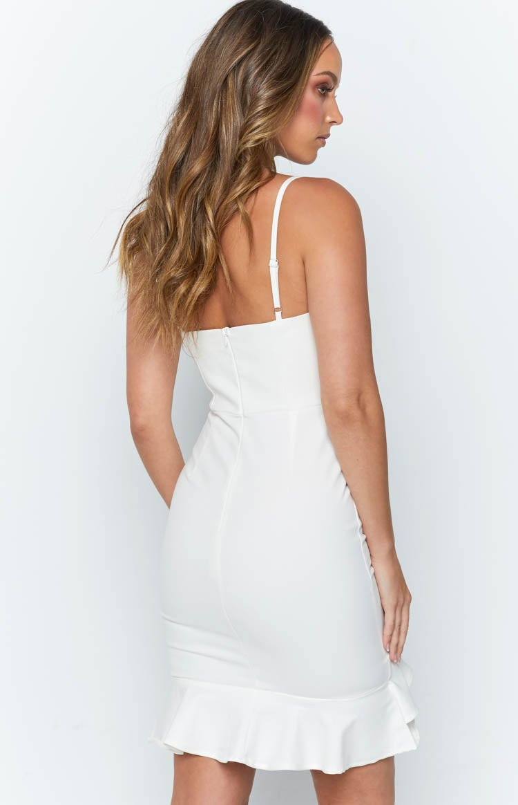 Afresh Dress White