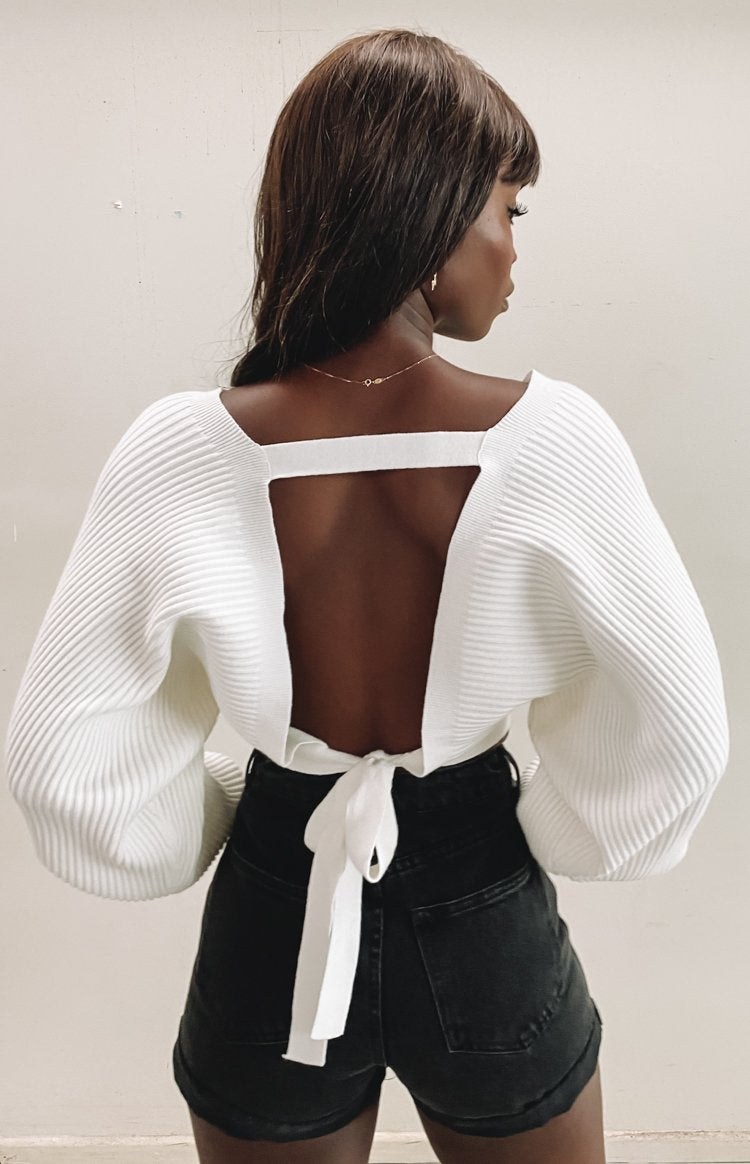 Aidy Knit Jumper White