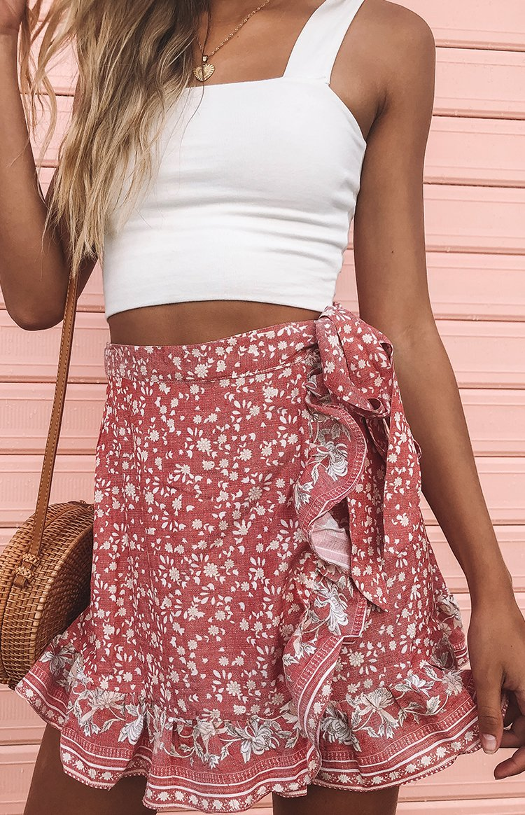 Alissia Skirt Red Print