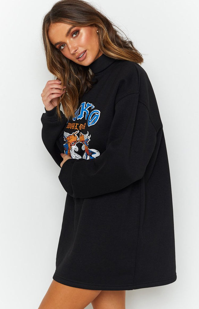 All Or Nothing Sweater Dress Black 6