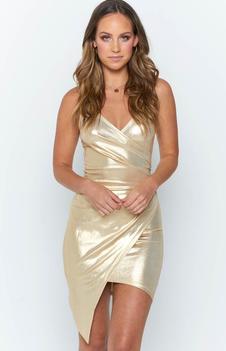 Alle Dress Metallic Gold
