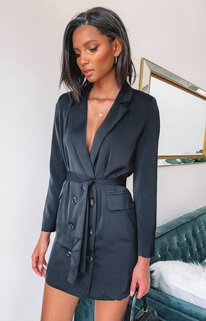 Ambitions Blazer Dress Black