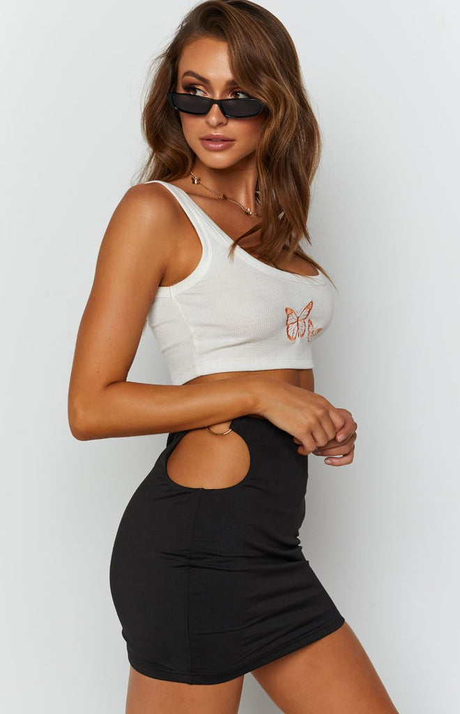 Butterfly Tank Top White 6