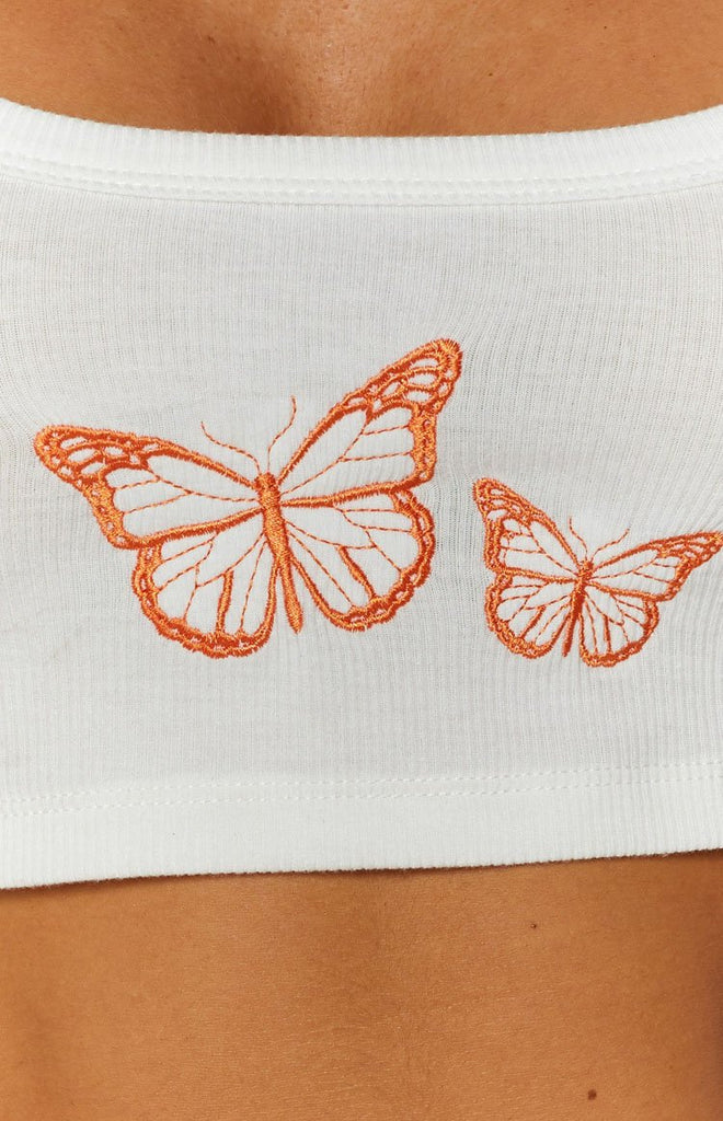 Butterfly Tank Top White 8