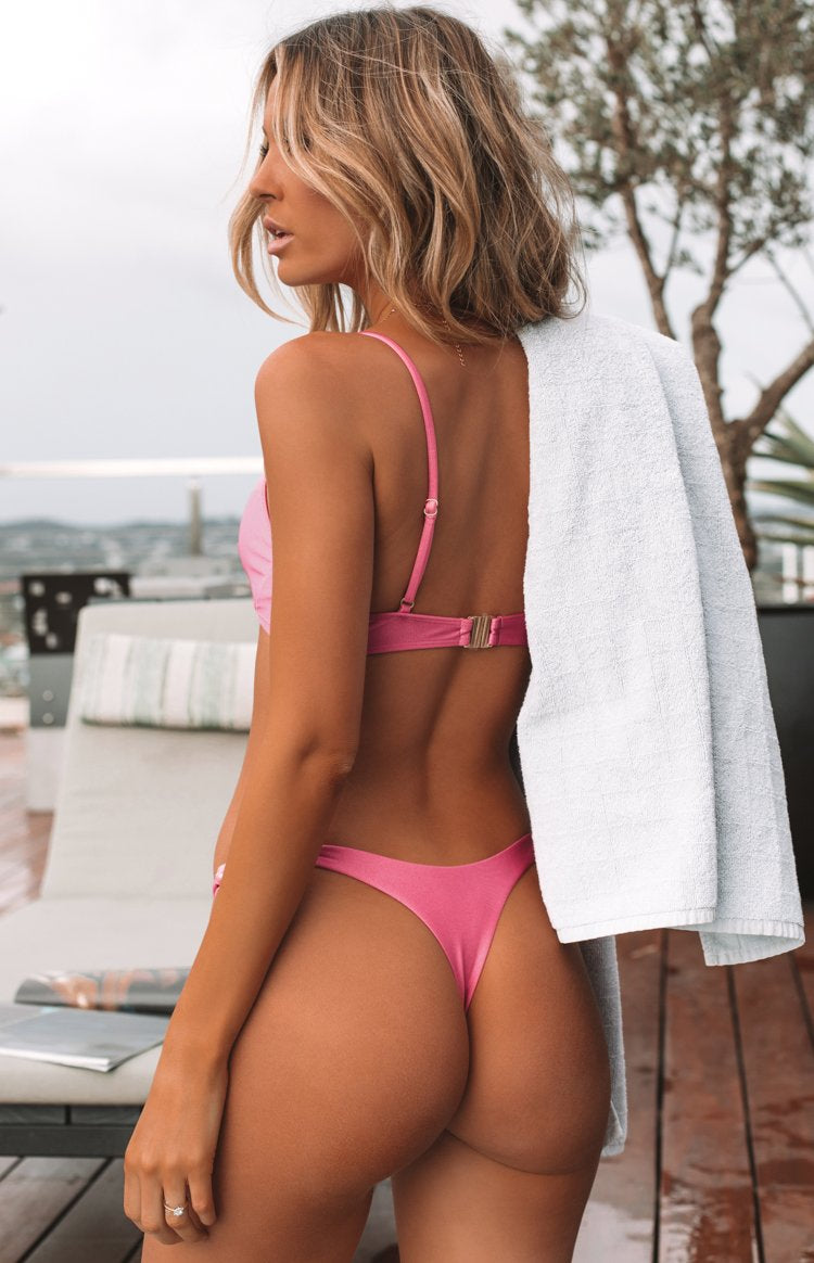 9.0 Swim Bahamas Bikini Bottoms Metallic Fuschia
