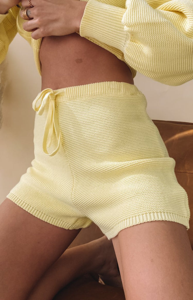 Berkley Knit Shorts Yellow 14