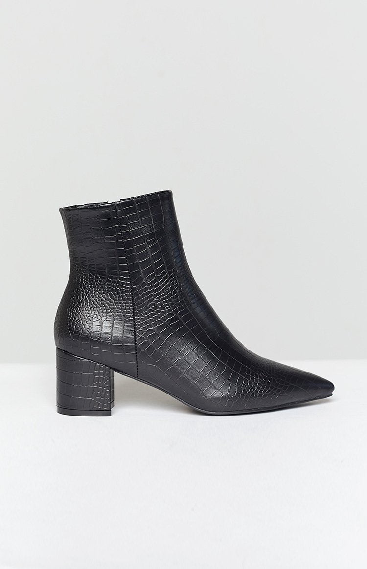 Billini Issie Boot Black Croc