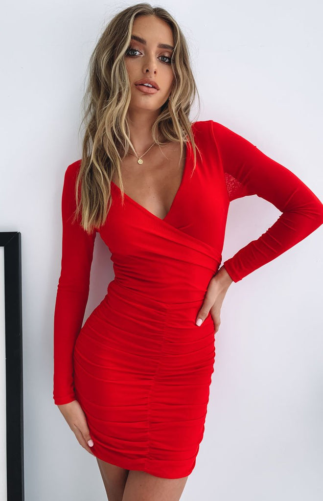Blow Your Mind Party Dress Red Beginning Boutique