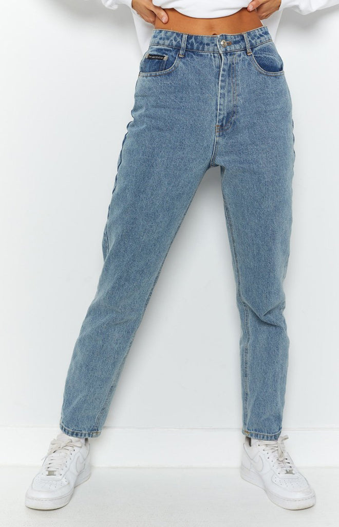 By Dyln Harlow Mom Jeans Blue 8
