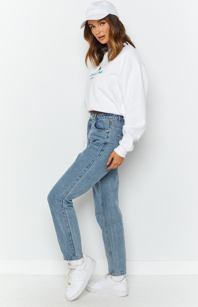By Dyln Harlow Mom Jeans Blue 6