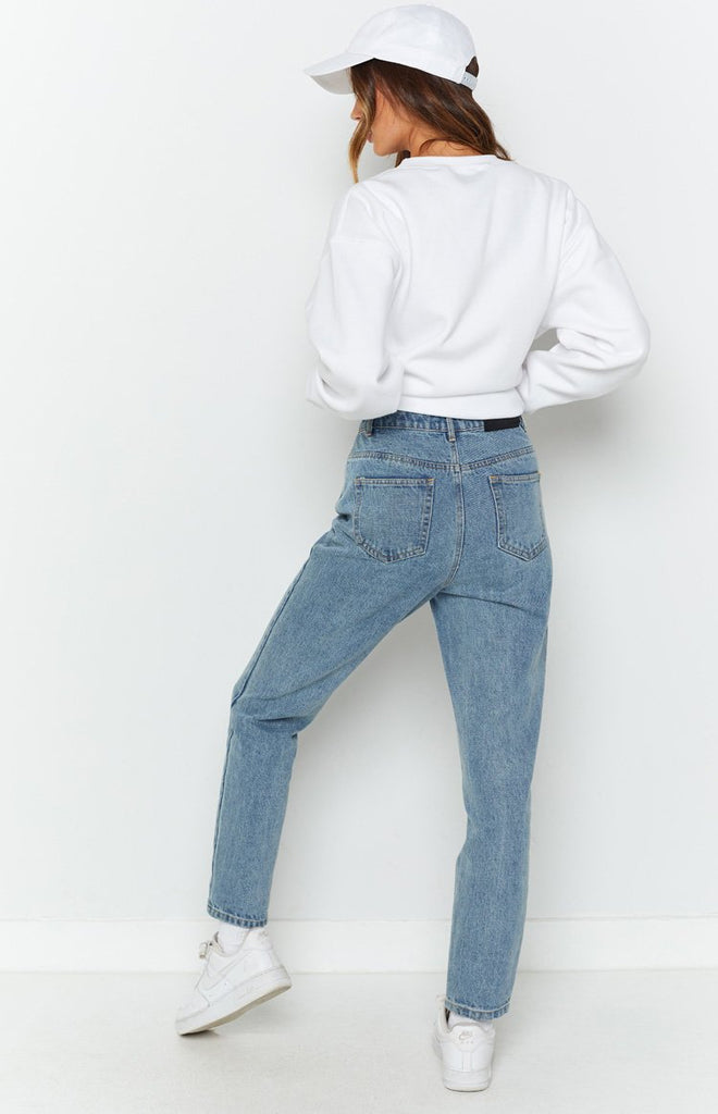 By Dyln Harlow Mom Jeans Blue 7