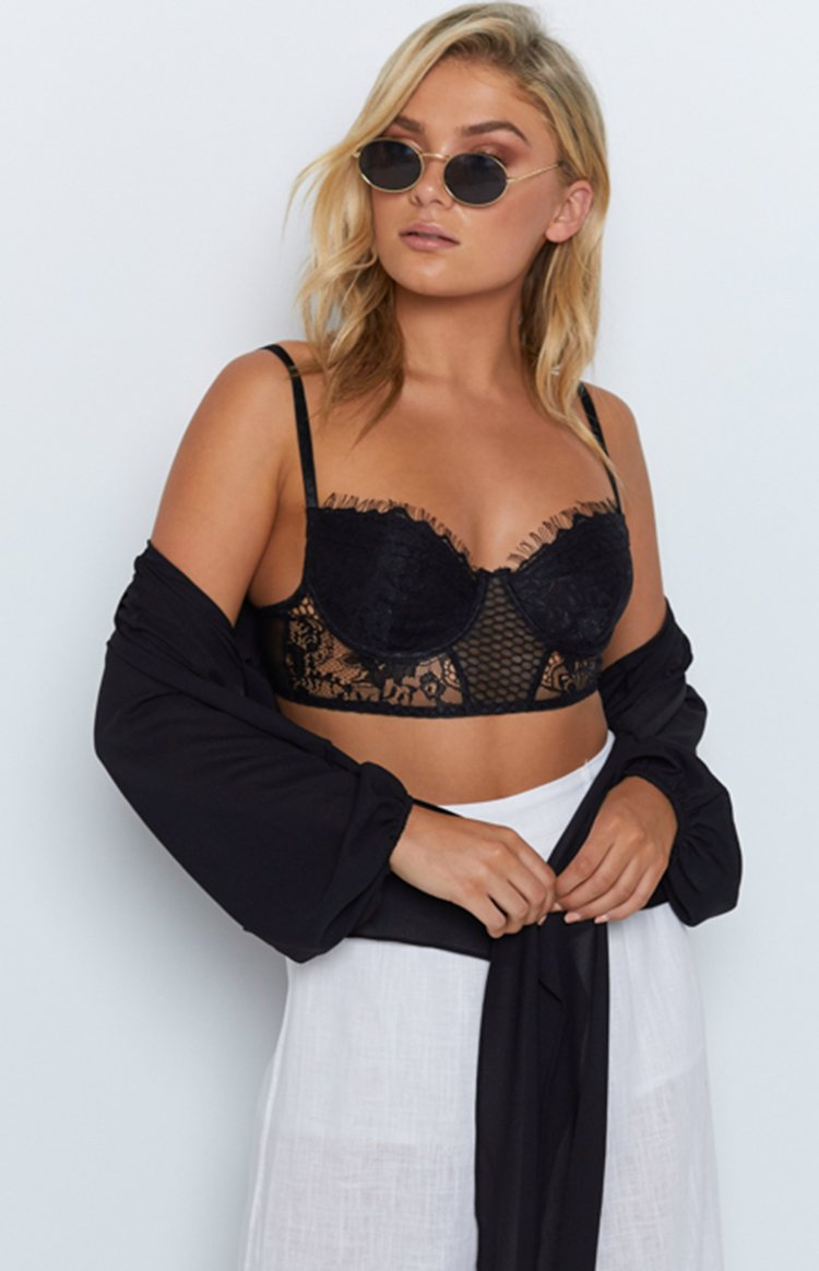 Cassidy Lace Bustier Black