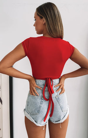 Charlee Crop Red