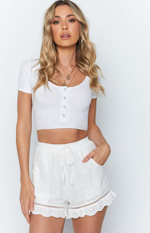 Claire Shorts White