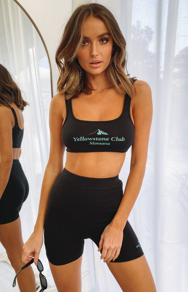 Club Crop Top Black 9
