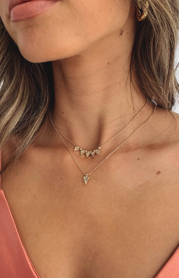 Eclat Cypress Layered Necklace Gold