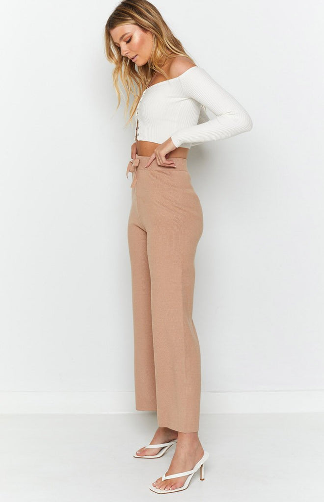 Diaz Knitted Pants Mocha 6