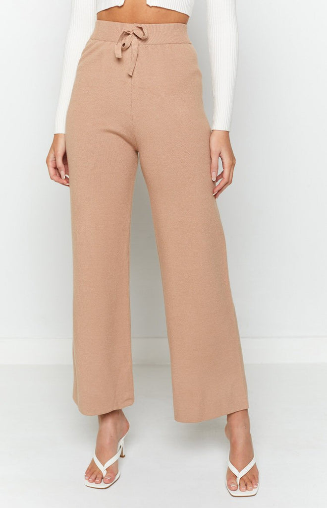 Diaz Knitted Pants Mocha 8