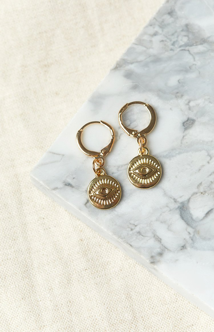 Eclat LA Lash Earrings Gold