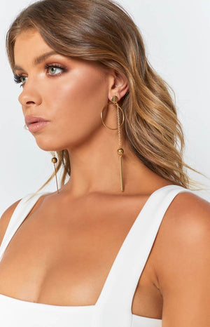 Eclat Caesar Circle Earrings Gold