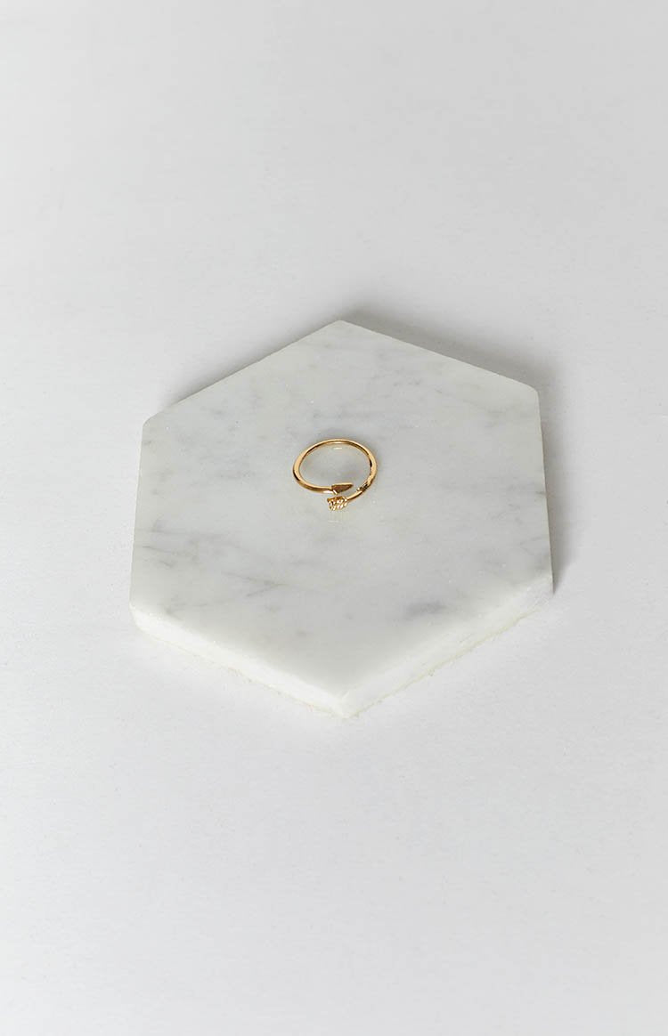 Eclat Crossed Lover Ring Gold