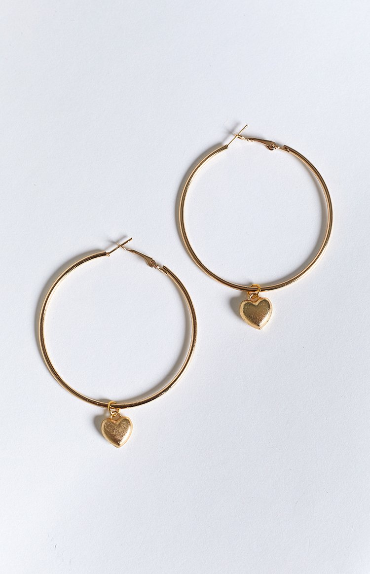 Eclat Heartshaker Earrings Gold