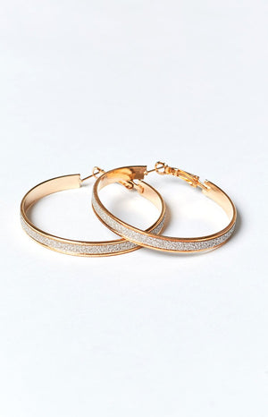 Eclat Twinkle Hoop Earrings Gold