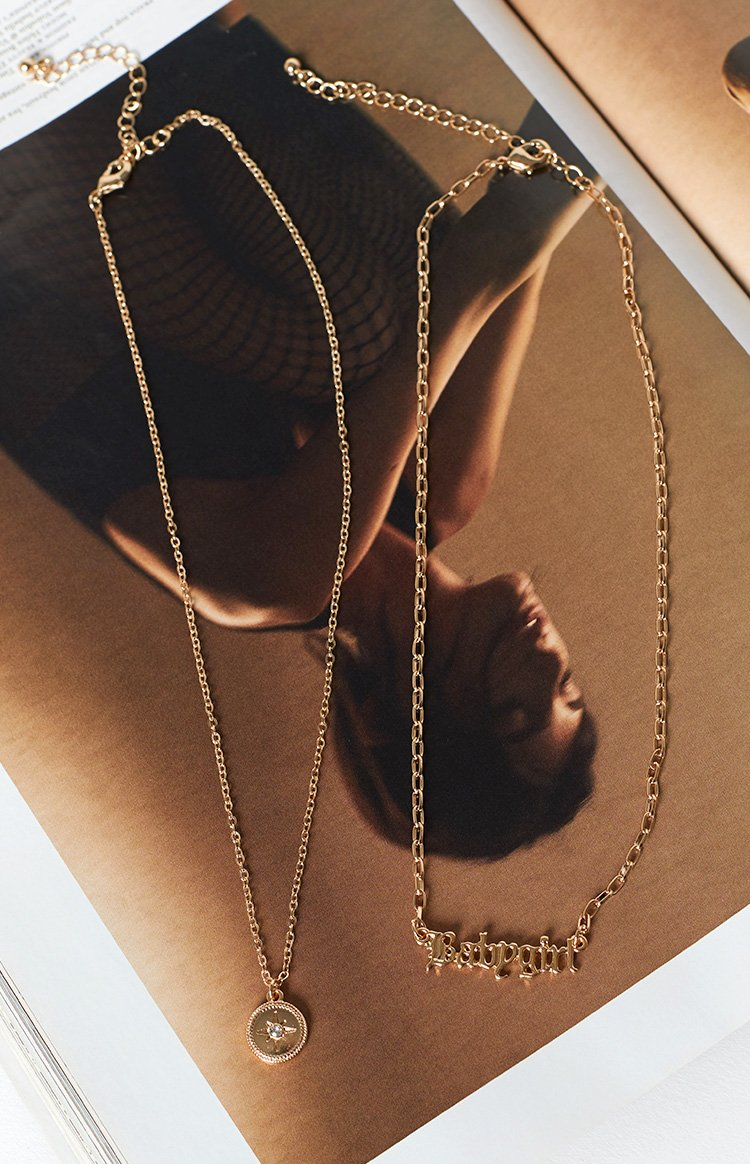 Eclat For Now Babygirl Layered Necklace Gold