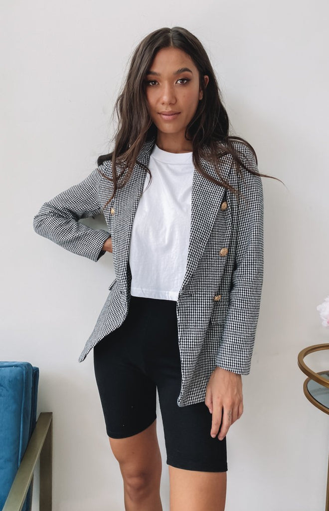 Eleventh Hour Blazer Grey Check 8
