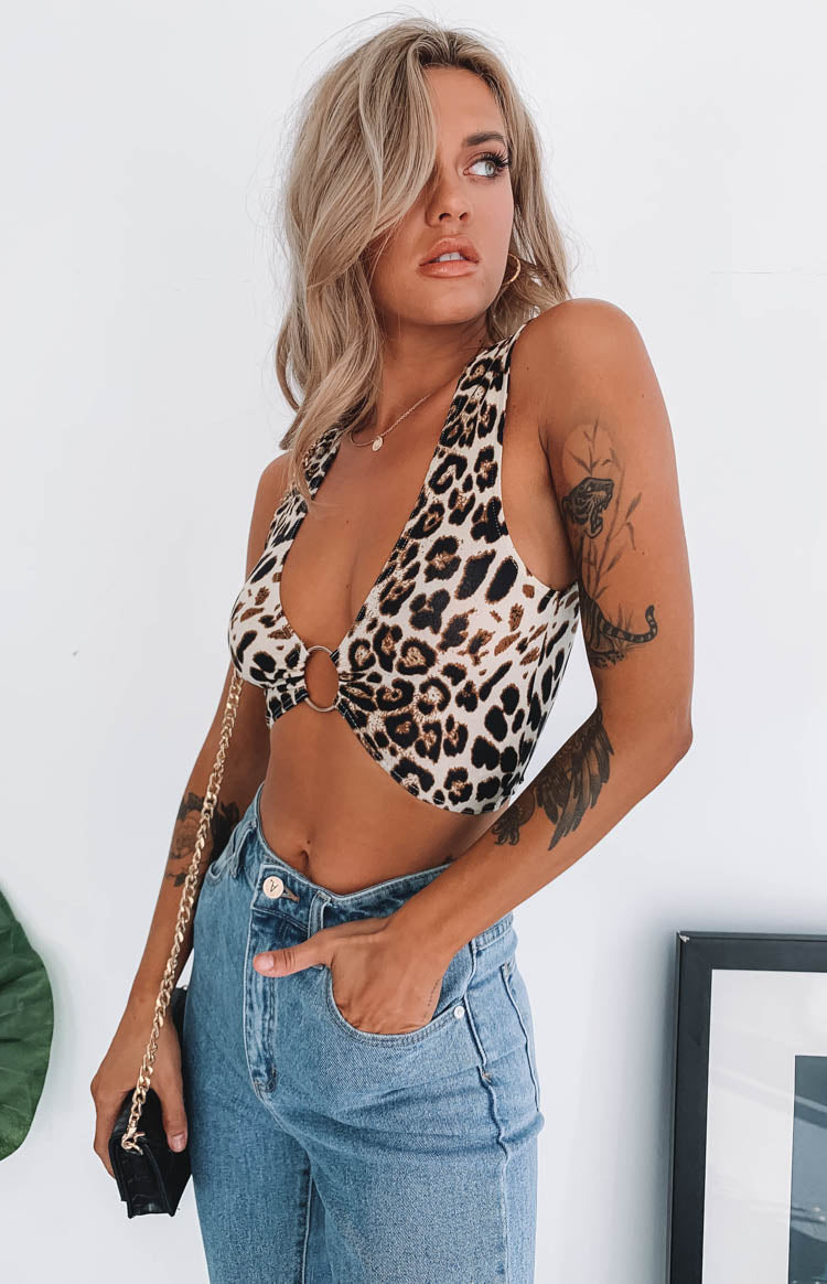 Elixir Buckle Circle Crop Leopard
