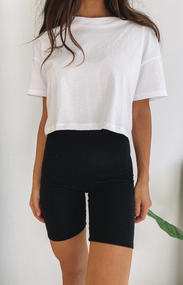 Eva Cropped Tee White