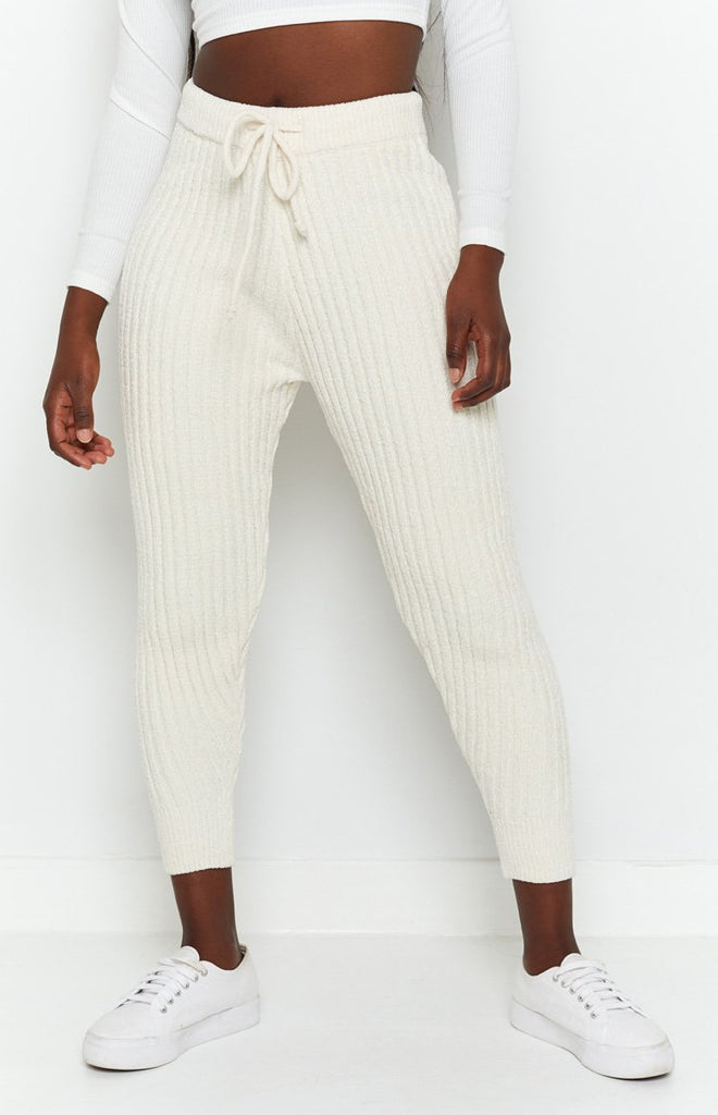 Fantasy Ribbed Pants Beige 5