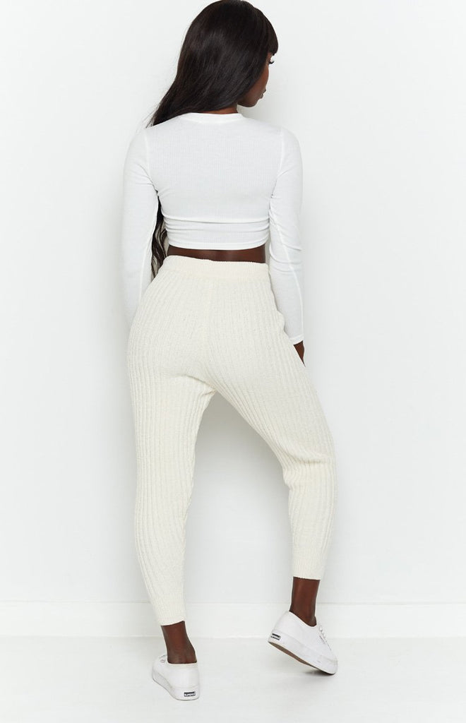 Fantasy Ribbed Pants Beige 7
