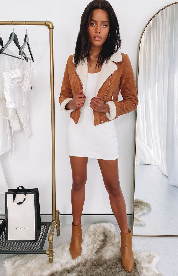 Gabbie Cord Jacket Tan