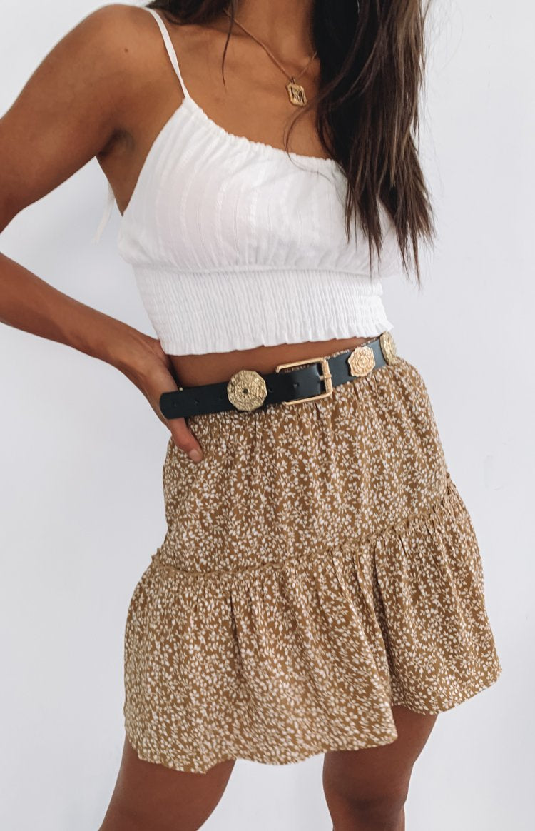 https://files.beginningboutique.com.au/Ginnie+Ruffle+Skirt+Tan+Floral.mp4