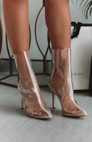 Giselle Heeled Boots Transparent
