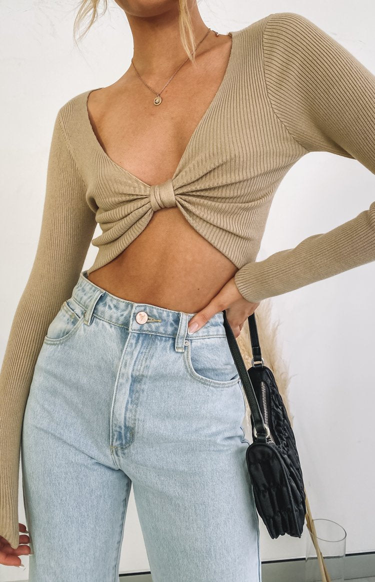 Haris Bow Sweater Nude
