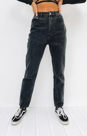 By Dyln Harlow Mom Jeans Black