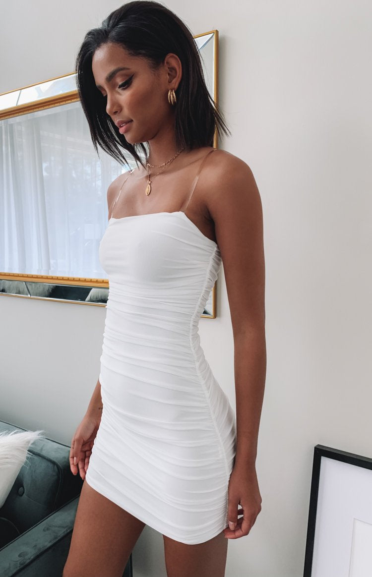High Velocity Mesh Party Dress White