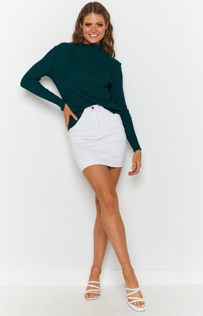 Home Central Turtle Neck Sweater Green 3
