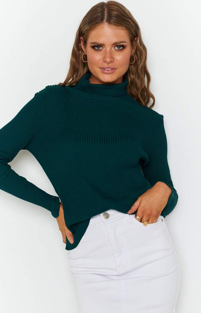 Home Central Turtle Neck Sweater Green 4